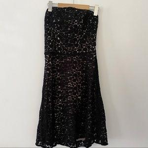 NWT Anthropologie Burlap crochet strapless dress